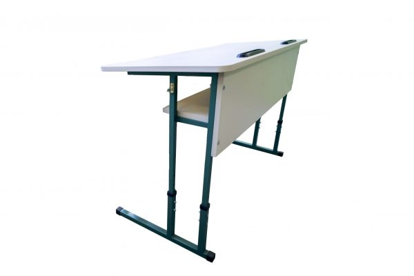 Anti-scoliosis two-seater pupil's desk with ergonomic tabletop No.4-6