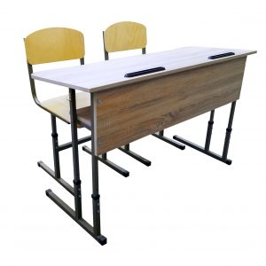 Set - two-seater desk + chair type 2
