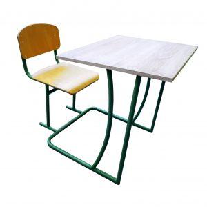 One-seated school desk set