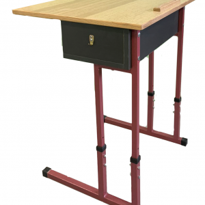 Single-seated pupil's table with a straight tabletop No. 3-5